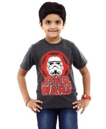 Star Wars Half Sleeves T-Shirt Stormtrooper Print - Grey