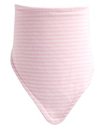 NeedyBee Stripes Printed Triangular Bib - Light Pink