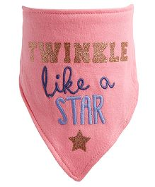 NeedyBee Twinkle Like A Star Newborn Feeding Bib - Pink