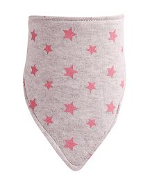 NeedyBee Star Printed Feeding Bib - Grey