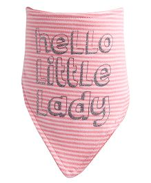 NeedyBee Hello Little Lady Printed Bib - Pink