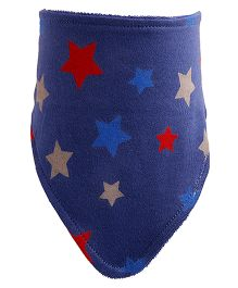 NeedyBee Star Printed Newborn Baby Bib - Dark Blue
