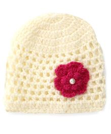 Buttercup From KnittingNani Mesh Cap - Off White