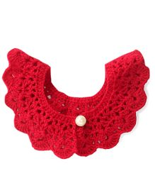 Buttercup From KnittingNani Crochet Collar - Red