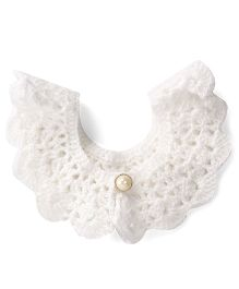 Buttercup From KnittingNani Crochet Collar - White