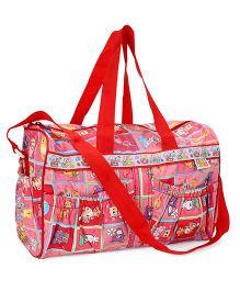 Mee Mee Mother Bag Teddy Print - Red