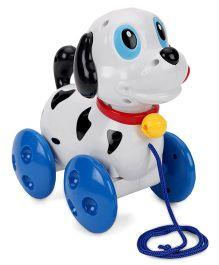 Baoli Doggy Shape Pull Along Musical Toy - White & Blue