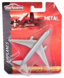 Majorette Metal Toy Plane Model - Grey