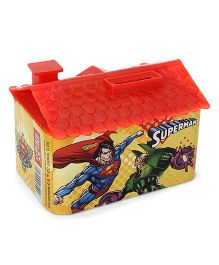 DC Comics Superman House Shaped Coin Bank - Red Yellow