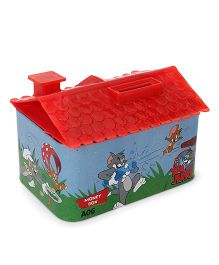 Tom And Jerry House Shaped Coin Bank - Red Blue
