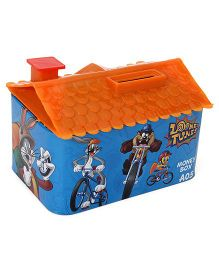 Looney Tunes House Shaped Coin Bank - Blue Orange