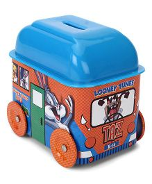 Looney Tunes Bus Shaped Coin Bank - Orange Blue