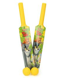 Tom And Jerry Bat And Ball Set - Yellow