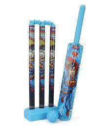 DC Comics Superman Plastic Cricket Set - Blue