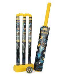 DC Comics Batman Plastic Cricket Set - Yellow