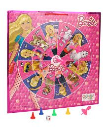 Barbie 2 In 1 Magnetic Dart Board And Game - Pink
