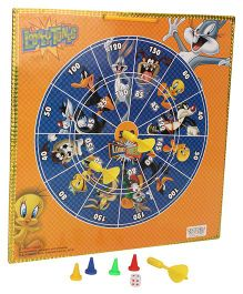 Looney Tunes 2 In 1 Magnetic Dart Board And Game - Multicolor