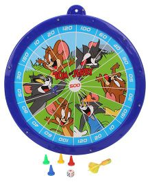 Tom And Jerry 2 In 1 Magnetic Dart Board And Game - Blue