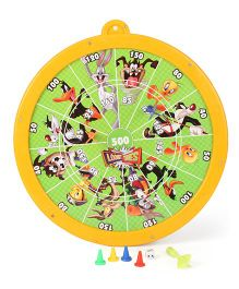 Looney Tunes 2 In 1 Magnetic Dart Board And Game - Yellow Green