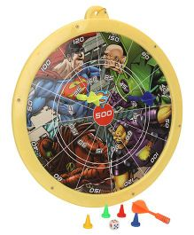 DC Comics Superman 2 In 1 Magnetic Dart Board And Game - Multicolor