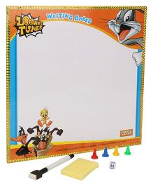 Looney Tunes 2 in 1 Writing Board And Game - Orange Blue