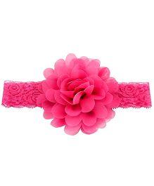 Bellazaara Large Flower Headband With Elastic - Pink