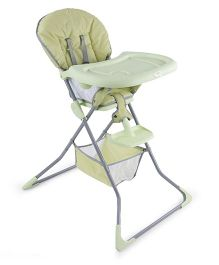 Baby High Chair With Storage Basket - Green