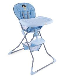 Baby High Chair With Storage Basket - Blue