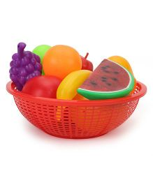 Ratnas Fresh Fruit Basket Red - 12 Pieces