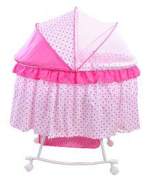 Notty Ride Baby Cradle Cum Rocker Pink - HWT-0405