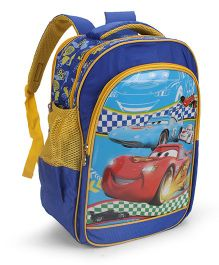 Disney Cars School Bag Blue - 16 Inches