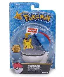 Pokemon Funskool Clip n Carry Poke Ball - White And Blue
