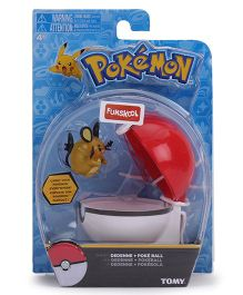 Pokemon Funskool Clip n Carry Poke Ball - White And Red