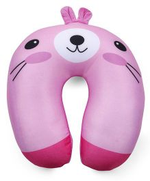 Bunny Face Neck Support Pillow - Pink