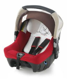Jane Strata Baby Car Seat - Red & Brown