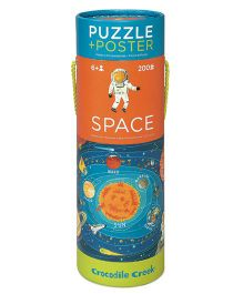 Crocodile Creek Space Poster Puzzle Multicolor - 200 Pieces