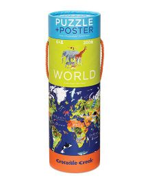 Crocodile Creek World Poster Puzzle Multicolor - 200 Pieces