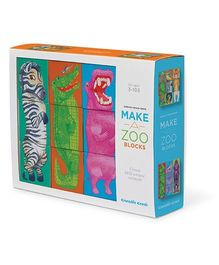 Crocodile Creek Block Set Animal Make A Zoo Multicolor - Pack Of 9