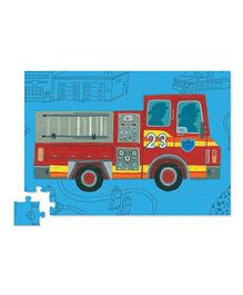 Crocodile Creek Fire Truck Vehicle Puzzle Multicolor - 48 Pieces