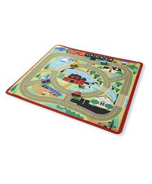 Melissa And Doug Round the Town Road Rug - Multicolor