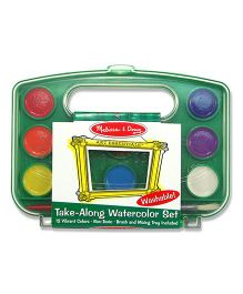 Melissa And Doug Take Along Watercolor Paint Set - 12 Colors