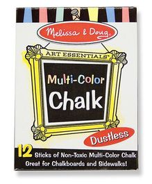 Melissa And Doug Chalk Multicolor - 12 Pieces