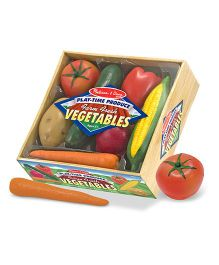 Melissa And Doug Play Time Produce Vegetables Multicolor - 7 Pieces