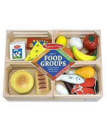 Melissa And Doug Wooden Food Groups Set - Multicolor