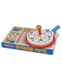 Melissa And Doug Wooden Birthday Cake Multicolor - 34 Pieces