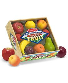 Melissa And Doug Play Time Produce Fruit Multicolor - 9 Pieces