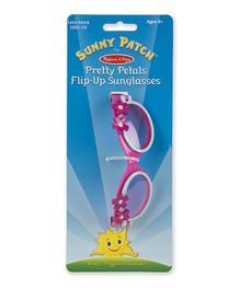 Melissa And Doug Pretty Petals Flip Up Sunglasses - Pink
