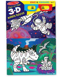 Melissa & Doug Easy-to-See 3D Marker Coloring Puzzle - Space Theme