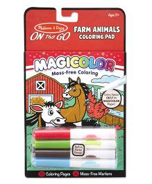 Melissa And Doug Magicolor Coloring Pad Farm Animals Red - 18 Pages