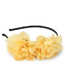 Party Princess Two Flower Hairband - Yellow